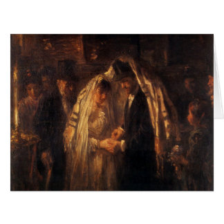 A Jewish Wedding by Jozef Israels - Circa 1903 Card