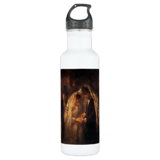 A Jewish Wedding by Jozef Israels - Circa 1903 Stainless Steel Water Bottle