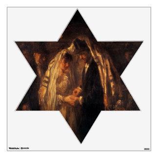 A Jewish Wedding by Jozef Israels - Circa 1903 Wall Sticker
