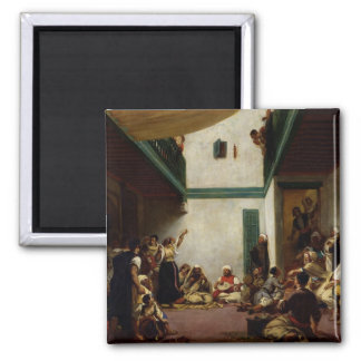 A Jewish wedding in Morocco, 1841 2 Inch Square Magnet