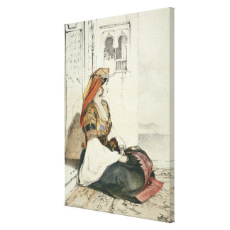 A Jewish Woman of Gibraltar, from 'Sketches of Spa Canvas Print