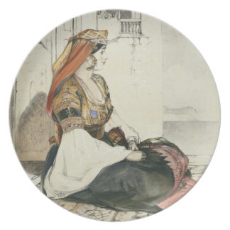 A Jewish Woman of Gibraltar, from 'Sketches of Spa Plate