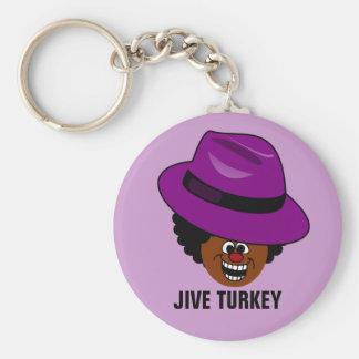 A Jive Turkey is Stuffed Full of Himself Keychain