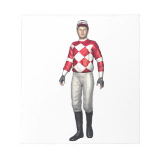 A Jockey in Red and White Note Pad