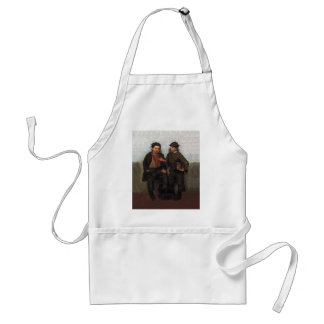 A Joint Investment ~ Shoe Shine Boys Share A Smoke Adult Apron