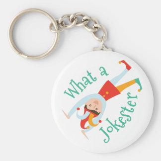 A Jokester Basic Round Button Keychain