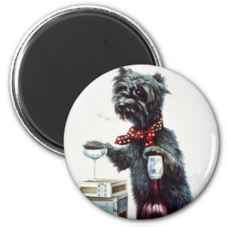 A jolly dog 2 inch round magnet