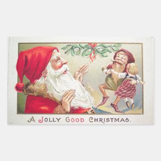 A Jolly Good Christmas Rectangular Sticker