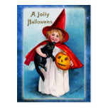 A Jolly Halloween from the Little Witch Post Card