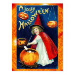 A Jolly Halloween from the Little Witch Post Cards