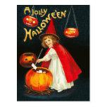 A Jolly Hallowe'en Postcard