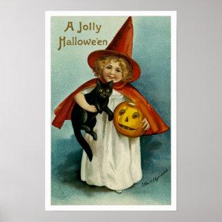 A Jolly Hallowe'en Poster