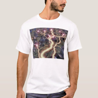 """A Jolt of Enlightening"" Large Adult T-Shirt"