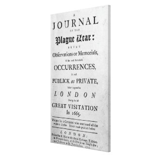 A Journal of the Plague Year, 1665 Canvas Print