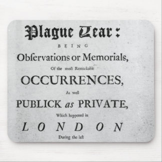 A Journal of the Plague Year, 1665 Mouse Pad