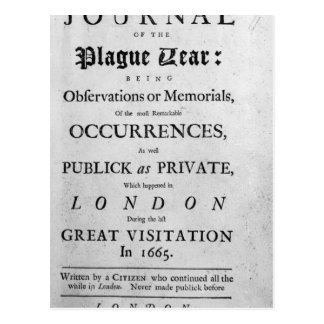 A Journal of the Plague Year, 1665 Postcard