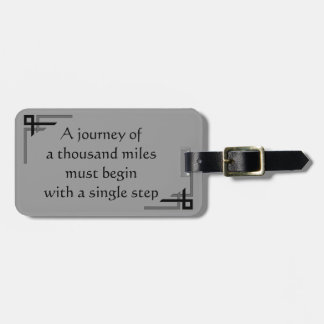 A journey of 1,000 Miles Art Deco Luggage Tag