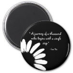 """""""A journey of a thousand..."""" Fridge Magnets"""