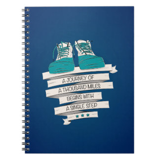 a journey of a thousand miles begins with a single notebook