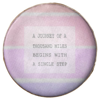 A Journey Of A Thousand Miles, Inspirational Quote Chocolate Dipped Oreo