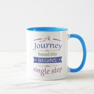 A Journey Of A Thousand Miles QuoteMug Mug