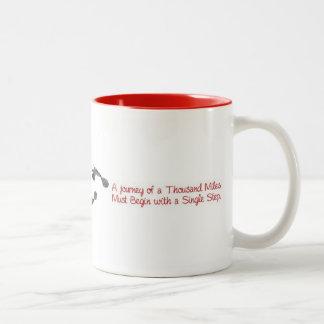A journey of a thousand miles... Two-Tone coffee mug