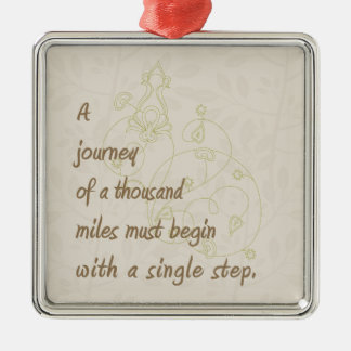 A Journey Zen Proverb Christmas Tree Ornaments