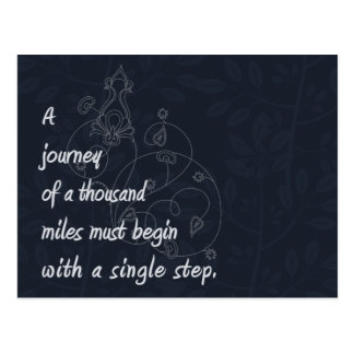"""A Journey..."" Zen Proverb. Postcard"