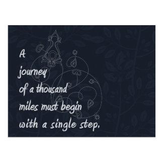 """A Journey..."" Zen Proverb. Postcard"