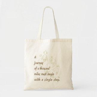 """A Journey..."" Zen Proverb. Tote Bag"
