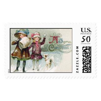 A Joyful Christmas Vintage Christmas Stamps
