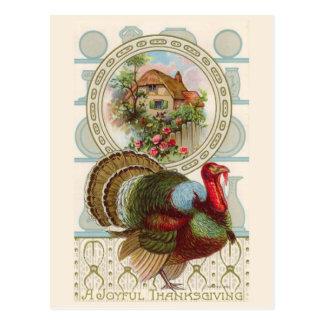 """""""A Joyful Thanksgiving"""" Vintage Postcard"""