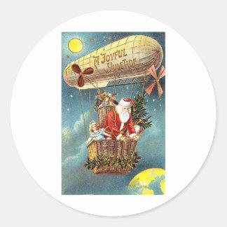 A joyful Yule Tide Classic Round Sticker