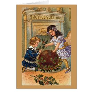 A Joyful Yuletide Vintage Christmas Card