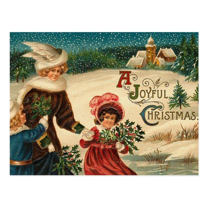 A Joyfull Christmas - Vintage Art Postcard