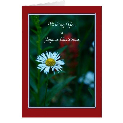 A Joyous Christmas , White Wildflower Card