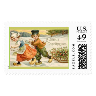 A Joyous Christmastide Postage Stamps