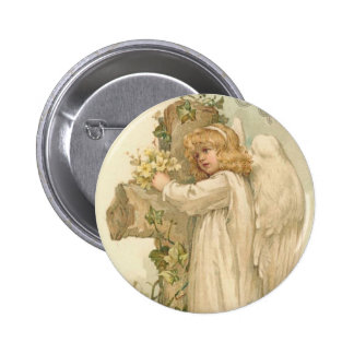 A Joyous Easter Angel Pinback Buttons