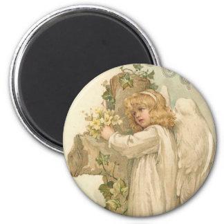 A Joyous Easter Angel Fridge Magnet