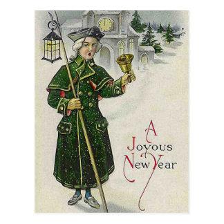 """""""A Joyous New Year"""" Vintage Postcard"""