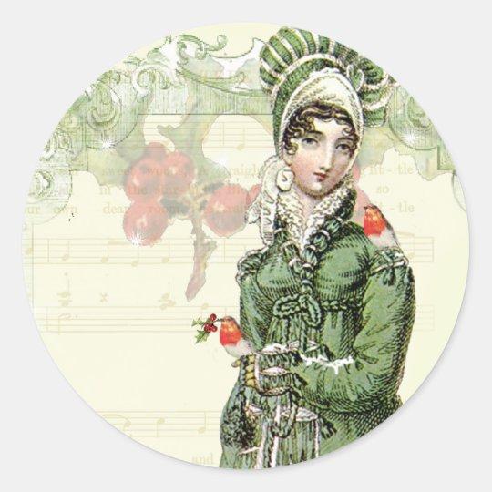 A Joyous Noel Classic Round Sticker