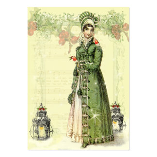 A Joyous Noel Jane Austen Inspired Gift tag b Large Business Cards (Pack Of 100)