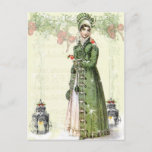 """A Joyous Noel - Jane Austen Inspired Holiday Postcard<br><div class=""""desc"""">A beautiful vintage Regency fashion plate teamed with adorable vintage images of robins takes centre stage in this festive shabby chic romantic Jane Austen inspired collage. © Wickedly Lovely</div>"""