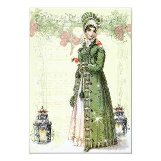 "A Joyous Noel Jane Austen Inspired RSVP 3.5"" X 5"" Invitation Card"