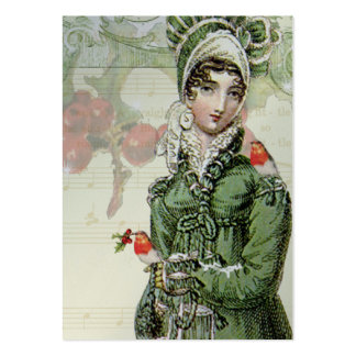 A Joyous Noel Jane Austen INspired Silver Gift tag Large Business Cards (Pack Of 100)