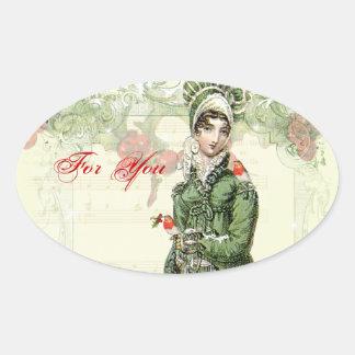 A Joyous Noel Oval Sticker