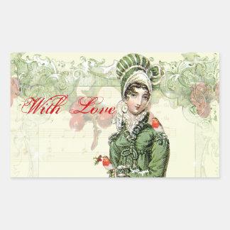A Joyous Noel with Love Rectangular Sticker