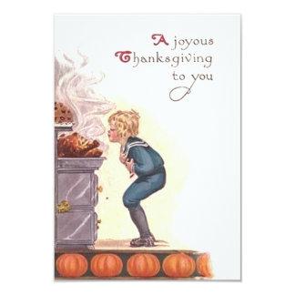 A Joyous Thanksgiving Invitation Vintage Style
