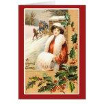 A Joyous Xmas Vintage Holiday Card