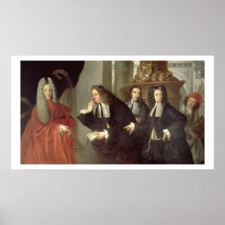A Judge and Three Advocates, Venetian School (oil Poster